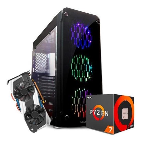 Pc Pro Gamer 5 Ryzen 7 2700 X470 Vídeo Rtx 2080ti Hd 2tb