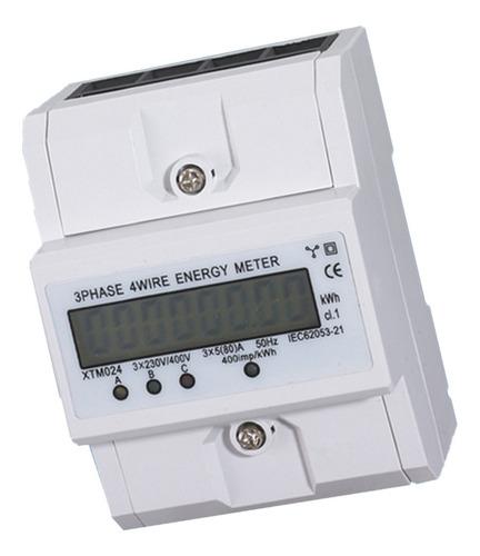 Zfggd Medidor de energ/ía 220 380V 20-80A Consumo de energ/ía el/éctrica Digital medidor de Potencia de 3 Fases KWh medidor con LCD