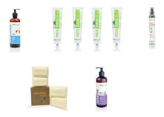 Kit Organico Pasta Dental Shampoo Crema Suero Jabon Ch
