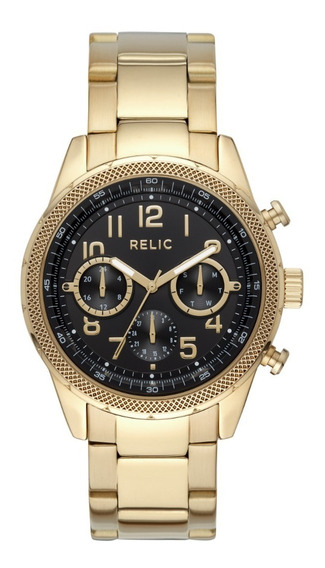 Reloj Caballero Relic Connor Zr15957 Color Dorado