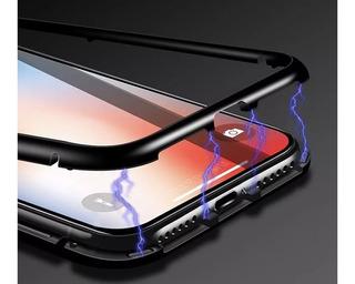 Case Capa Magnetica Preta iPhone X Novo Armadura Top