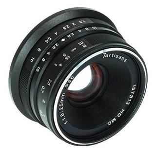Lente 25mm F/1.8 M43 Olympus 7artisans