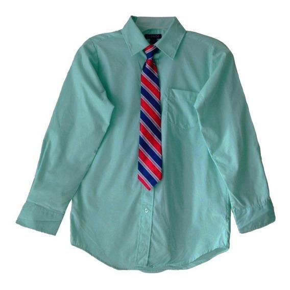 Camisas Vestir Juvenil Graduación Comunión George Corbata