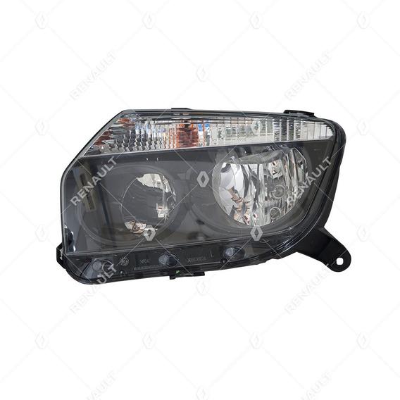 Farol Esquerdo Máscara Negra Original Renault Duster