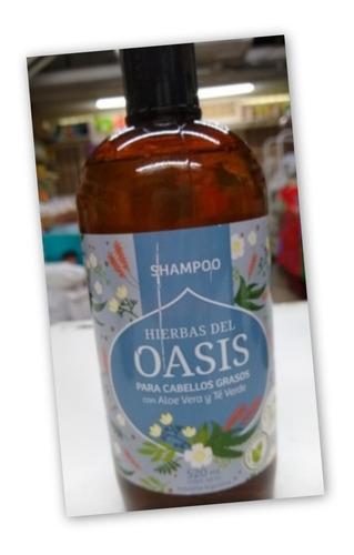 Shampoo * Hierbas Oasis Cabello Grasos Aloe Vera Y Te Verde