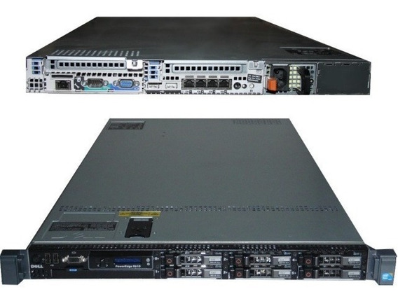 Servidor Dell Poweredge R610 2 Xeon Sixcore 32gb 2x Hd300 Com Nota Fiscal E Garantia Pronta Entrega