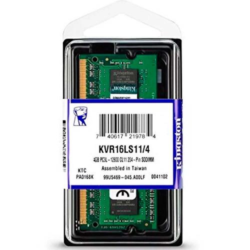Memoria Ram Ddr3l 4gb Laptop 1600 1.35v Kingston Kvr16ls11/4