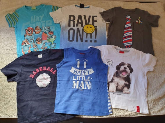 Lote 6 Remeras Talle 4 Disney Store Grisino Mimo Cheeky