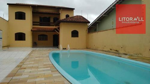Casa Com 3 Dormitórios À Venda, 132 M² Por R$ 430.000,00 - Belas Artes - Itanhaém/sp - Ca1011