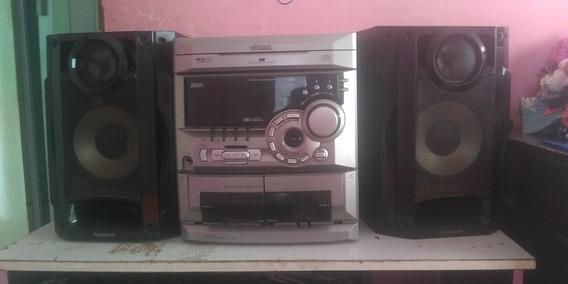 Som Toshiba + 2 Caixas De Som Panasonic