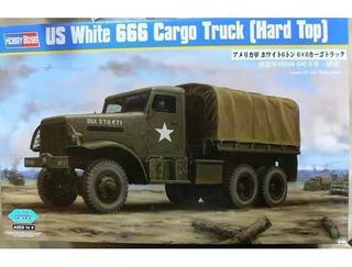 Hobbyboss 1/35 83801 Us White 666 Cargo Truck Hard Top