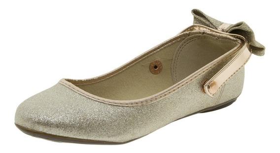 Sapatilha Infantil Feminina Dourada Molekinha - 2083667