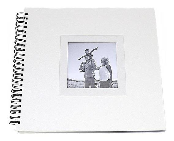 Álbum De Assinaturas E Scrapbook Grande Branca Perolada