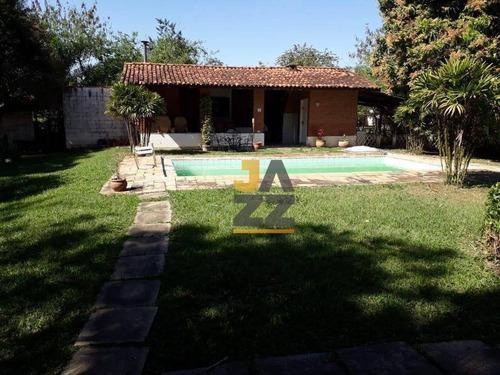Chácara Com 3 Dormitórios À Venda, 1800 M² Por R$ 550.000,00 - Loteamento Chácaras Vale Das Garças - Campinas/sp - Ch0681