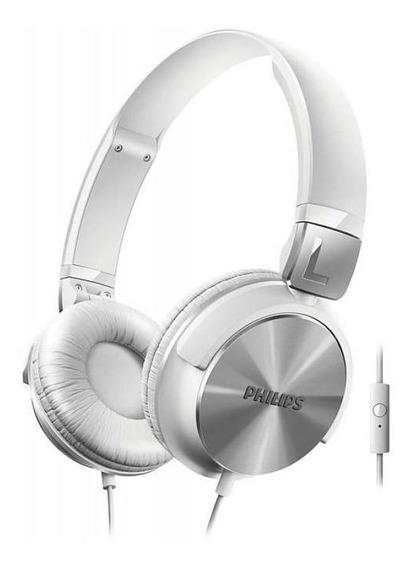 Fone De Ouvido Philips Shl 3165 C/ Microfone - Branco
