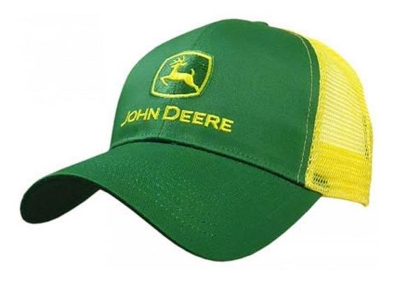 Gorra John Deere Verde/amarillo Original Malla Posterior