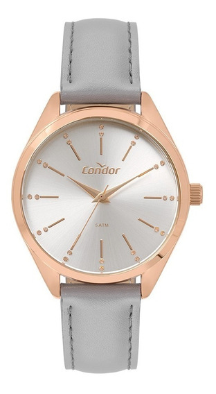 Relógio Condor Feminino Co2035mse/4k Rose Couro Oferta