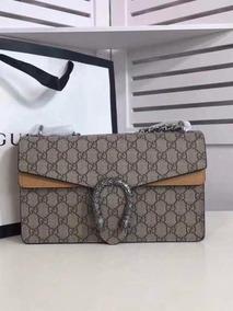 Bolsa Gucci Dionysus G Premium Couro Marrom