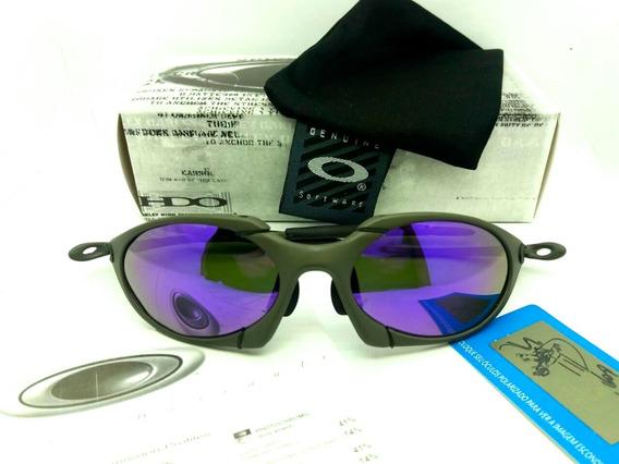 Oculos Lupa Oakley Romeo 1 X Metal Lentes Violet Polarizadas