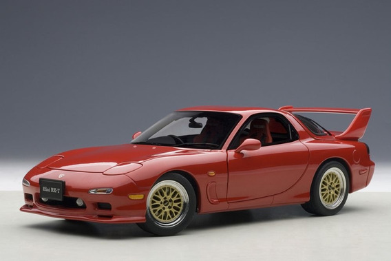 Mazda Rx-7 (fd) Tuned Version 1:18 Autoart Vermelho