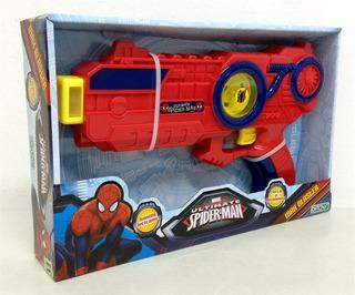 Juguete Pistola Spiderman Max Blaster Luz Movimiento + Promo
