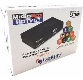 Receptor Midiabox B3 Century Hd C/ Conversor Digital Novo