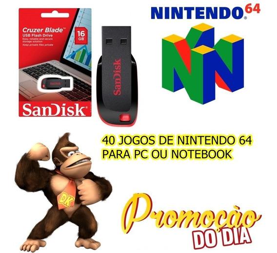 Pendrive + 40 Jg De Nintendo 64 De Pc Ou Notebook