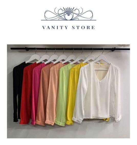 Camisa Blusa Creppe Nueva Temporada Varios Colores !
