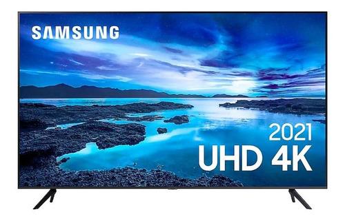 Imagem 1 de 5 de Smart Tv Samsung 50 Un50au7700gxzd Uhd 4k Cinza Titan Bivolt