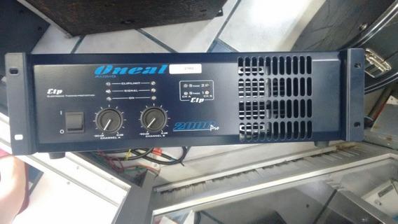Amplificador Potencia Oneal Op2000 Pro Op 2000 Pro 1 Ano Gar