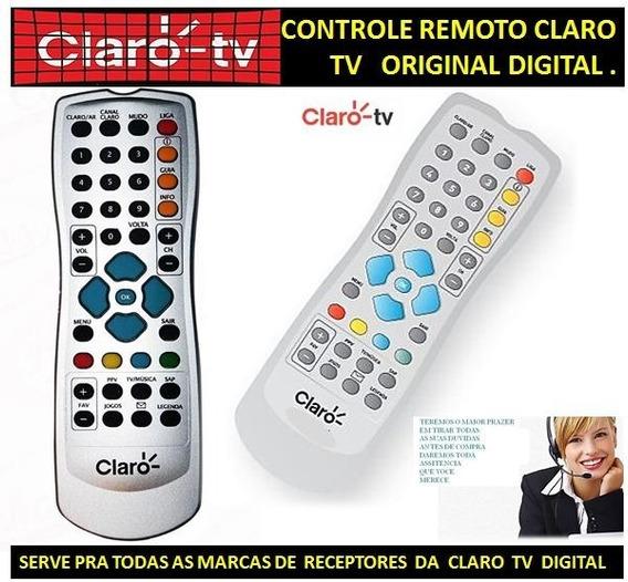 Controle Remoto Claro Tv Digital Original