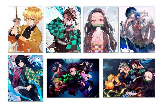 Kimetsu No Yaiba 7 Posters Demon Slayer Envio Gratis Calidad