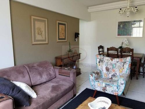 Apartamento Com 3 Dormitórios, 1° Andar, 2 Vagas, À Venda, 127 M² Por R$ 490.000 - Embaré - Santos/sp - Ap7670