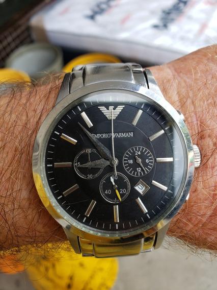 Relógio Empório Armani Original Zero Demais Pulseira Aço