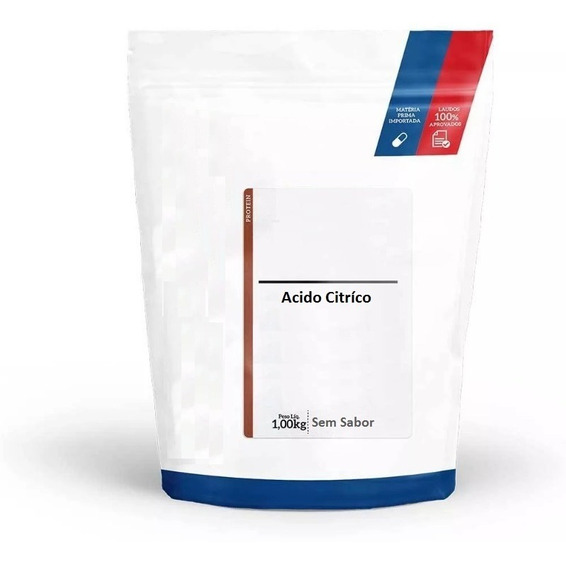 Acido Citrico Pó 1kg 100% Puro Alimenticio Usp