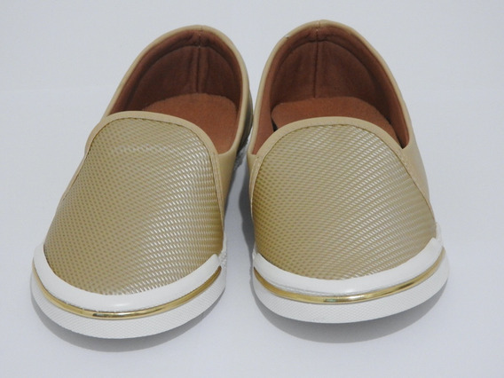 Sapatenis Slip On Bege Astral Sapato Casual