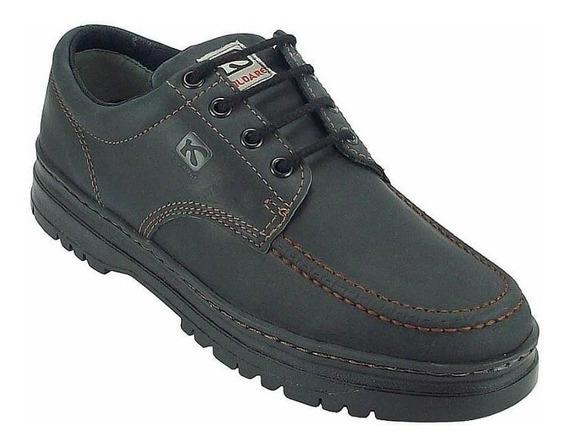 Sapato Masculino Kildare Em Couro Timber G521 Preto Grafite