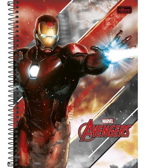 Caderno Capa Dura Vingadores Avengers 1 Matéria - Tilibra