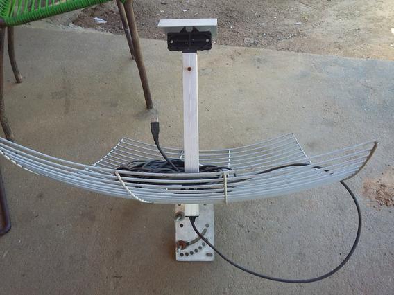 Antena Wireless De Grade Usb 20dbi Com Cabo De 10 Metros