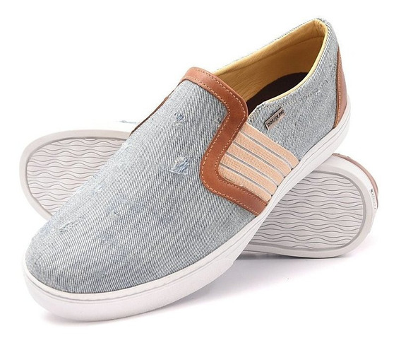 Tênis Slip On Masculino Casual Jeans Super Confortável 1142
