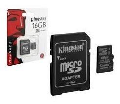 8 Unidades Cartão De Memória Kingston 16gb + Adaptador