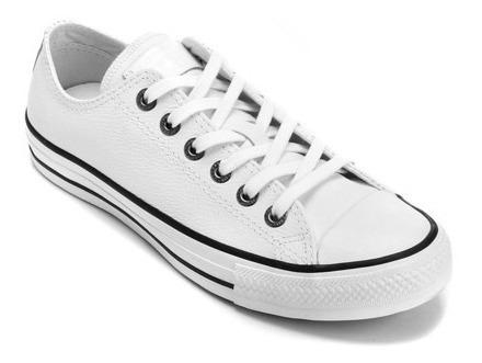 Tênis Converse All Star Branco Cano Baixo Couro Ct04480001