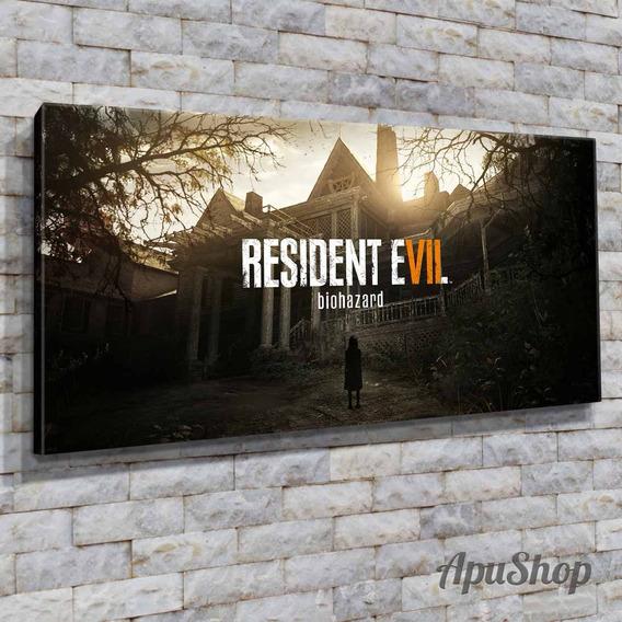 Cuadros Lienzo 60x30 Resident Evil Game Videojuegos Y Más
