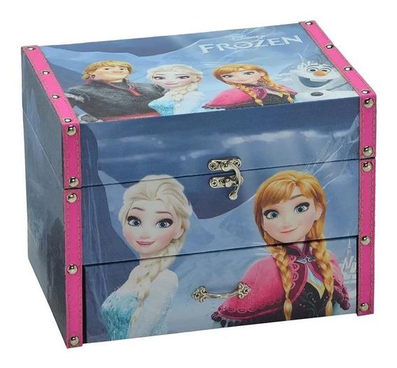 Porta Jóias Frozen Couro Em Mdf 25x19cm Disney