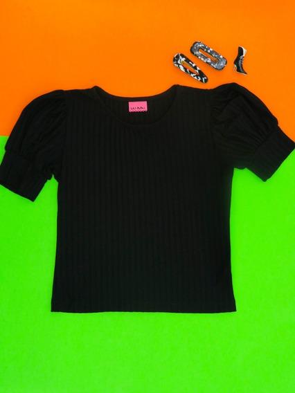 Remera Barwa Negra Las Pepas Mini