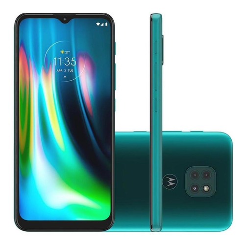 Celular Moto G9 Play 64gb/4gb Ram Câm Tripla Tela6.5  Verde