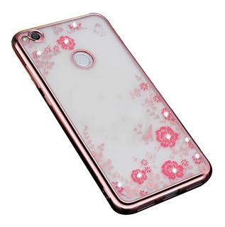 Funda Flores Hermosas Slim Transparente Flexible Para Huawei