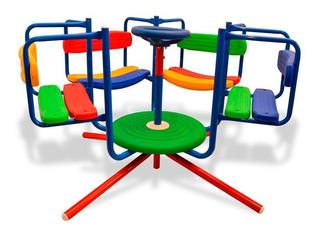Calesita Infantil Reforzada Listones Plástico Juegos Jardin
