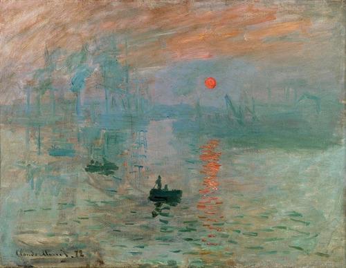 Poster Monet 60cmx80cm Impressão Ao Por Do Sol - Para Sala