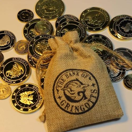 Set De 3 Uds De Monedas Conmemorativas Harry Potter